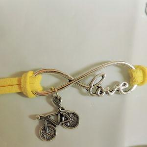 Bicycle Charm Bracelet on cord  NWOT